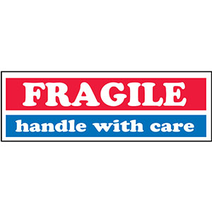 FRAGILE Handle With Care Shipping Mailing label