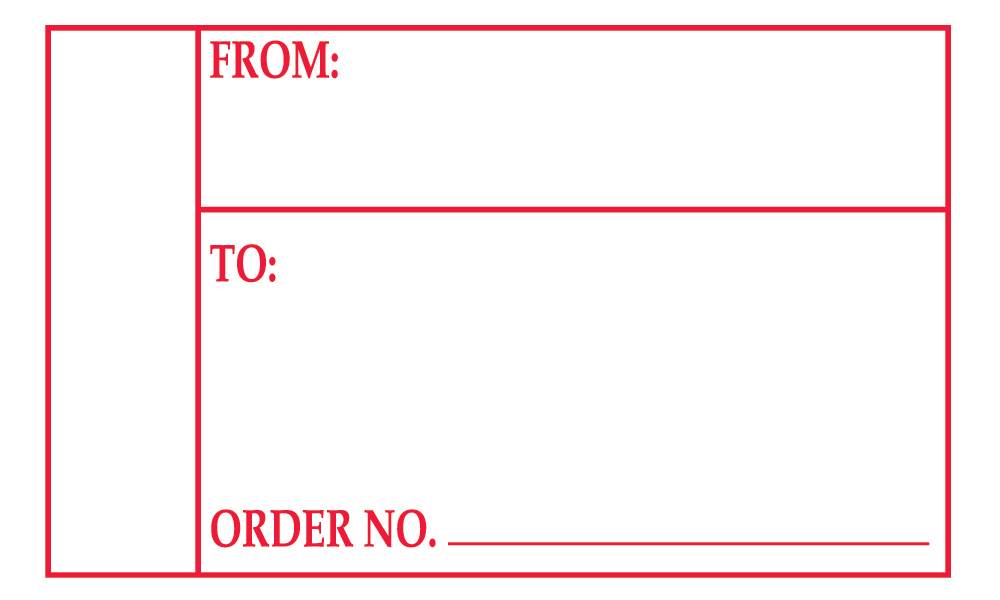 "Order Number"" Shipping Label"