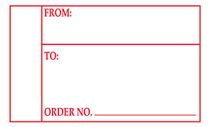 From To Order Number Address label