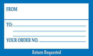 From To Your Order Number Return Requested Address Label