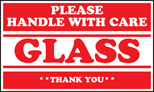 Glass Please Handle With Care 5x3 Warning Label