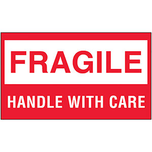 3x5 Fragile Handle With Care Labels