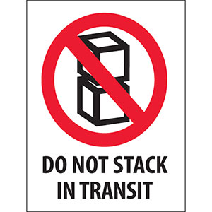 Do Not Stack in Transit Labels