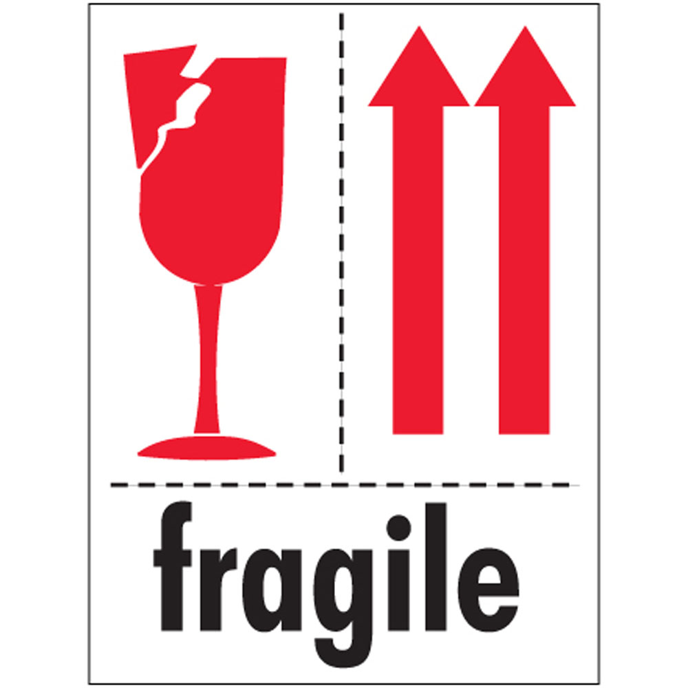 Insane image with fragile glass labels printable