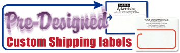 Pre-Designed Custom Shipping Labels
