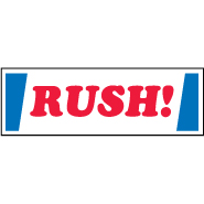 RUSH! Shipping Mailing label