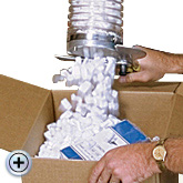 Packing Peanuts and Loose Fill Dispensers