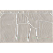 10-3/4 x 6-3/4 Plain Face Perforated Back Loading Clear Packing Envelope