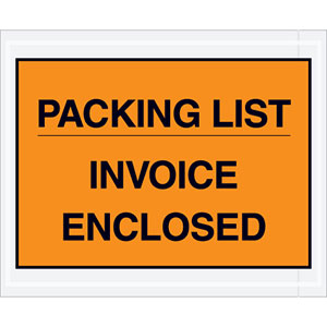4.5x5.5 Full Face Packing List Envelope Invoice Enclosed