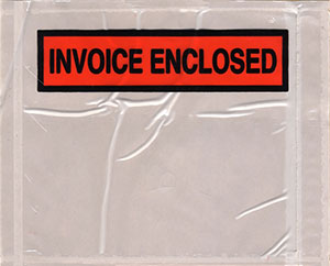 Packing List Envelope INVOICE-ENCLOSED 4.5 x 5.5 Panel