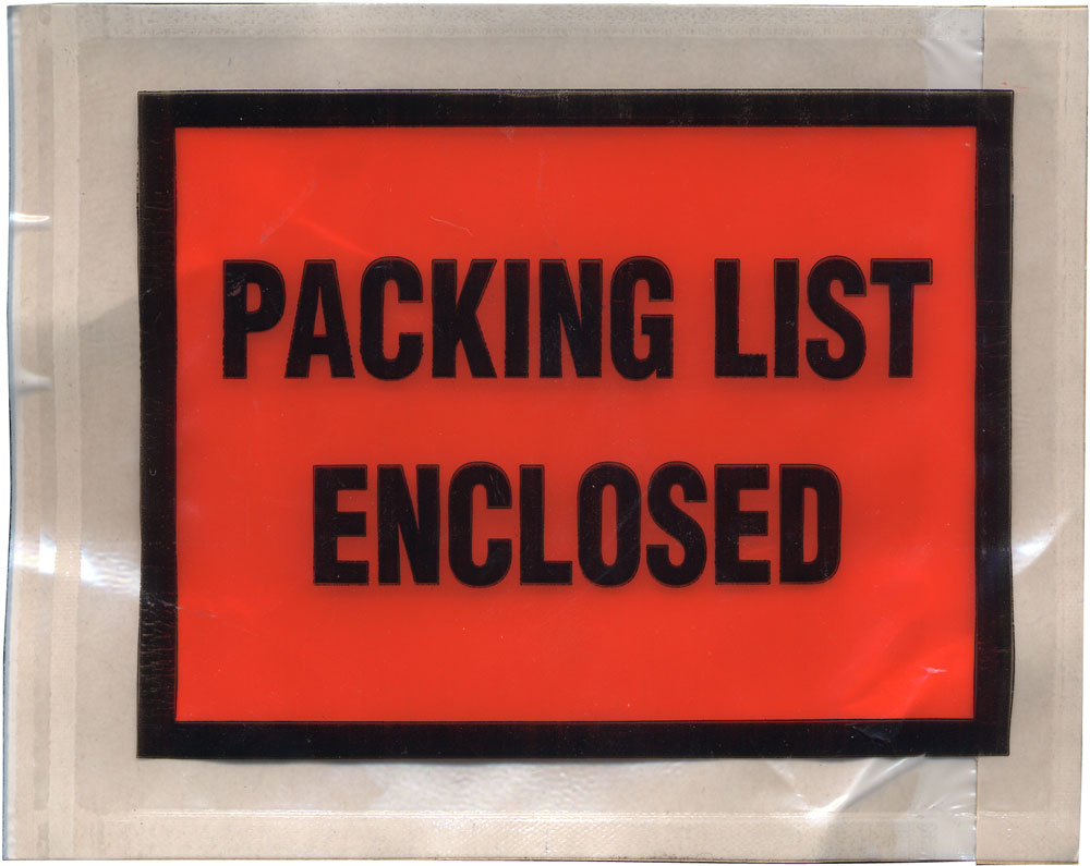 Image of ADM ADM-52 Packing List Envelopes