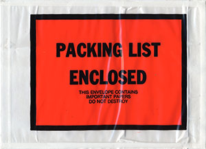 PACKING LIST ENCLOSED - THIS ENVELOPE CONTAINS IMPORTANT PAPERS DO NOT DESTROY