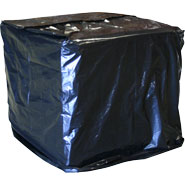 Gusseted Black UVI Pallet Covers on Rolls