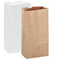 White & Kraft Grocery Bags