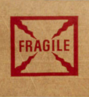 3 x 600 Printed Fragile Reinforced Gummed Kraft Paper Tape Water-Activated Paper Packaging Tape
