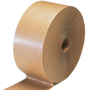 3 x 500 Reinforced Gummed Kraft Paper Tape Water-Activated Paper Packaging   Tape