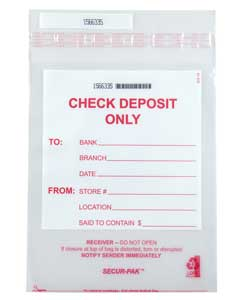 Secur-Pak Check Deposit Bag 9 x 12
