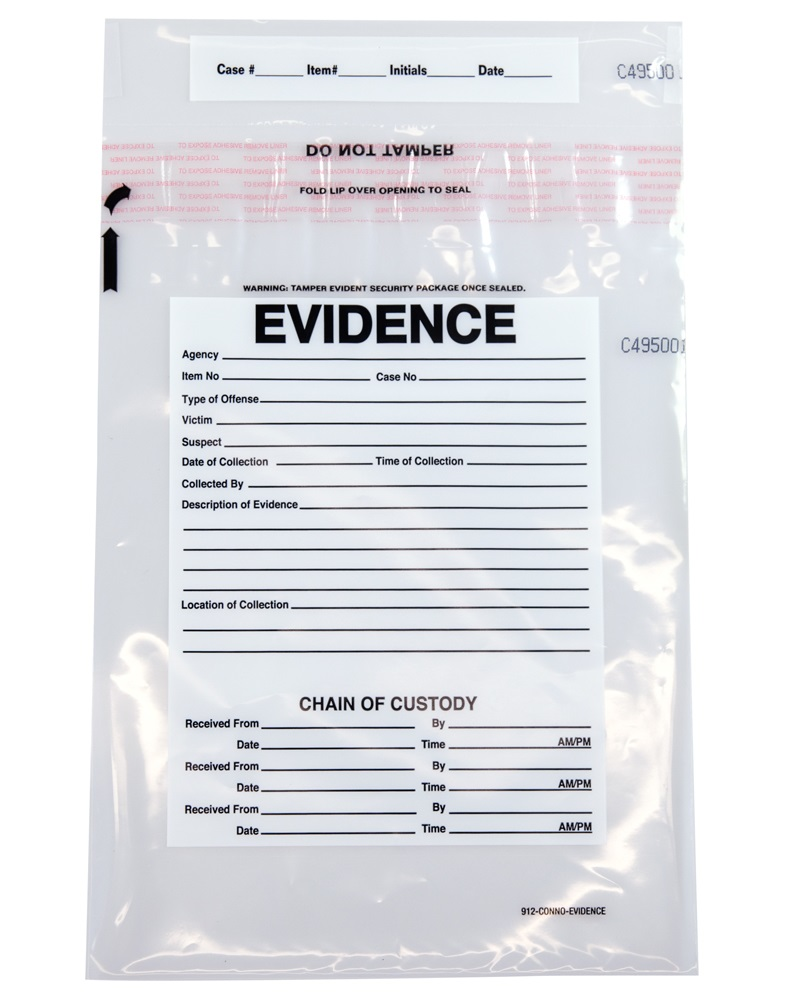 Plastic Evidence Bags 9 X 12 Secur Pak