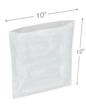 10 x 12 1.25 mil Poly Bags