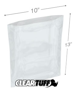 10 x 13 2 mil Poly Bags