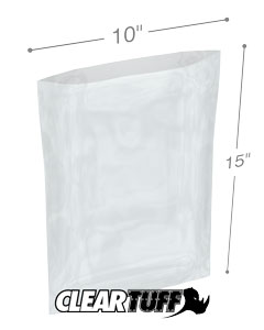 10 x 15 3 mil Poly Bags