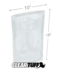 10 x 18 3 mil Poly Bags