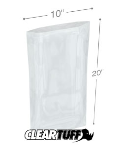 10 x 20 2 mil Poly Bags