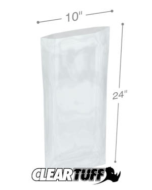 10 x 24 1.25 mil Poly Bags