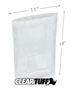 11 x 18 2 mil Poly Bags