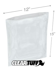 12 x 15 3 mil Poly Bags