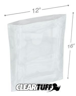 12 x 16 1 mil Poly Bags