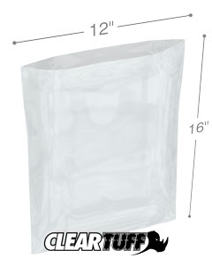 12 x 16 3 mil Poly Bags