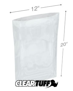 12 x 20 2 mil Poly Bags
