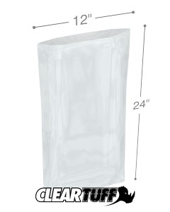 12 x 24 2 mil Poly Bags