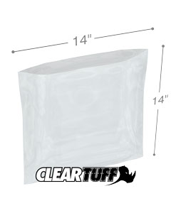 14 x 14 2 mil Poly Bags
