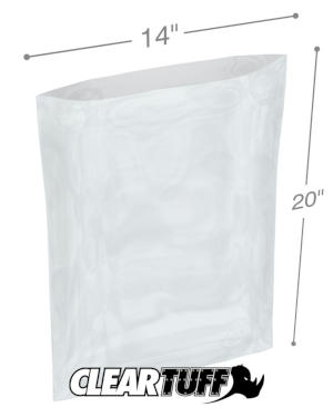 14 x 20 1.25 mil Poly Bags