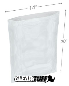 14 x 20 2 mil Poly Bags