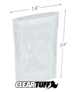 14 x 24 2 mil Poly Bags