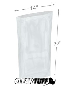 14 x 30 2 mil Poly Bags