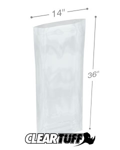 14 x 36 2 mil Poly Bags
