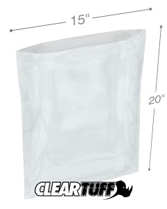 15 x 20 4 mil Poly Bags