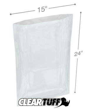 15 x 24 1.5 mil Poly Bags