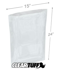 15 x 24 2 mil Poly Bags