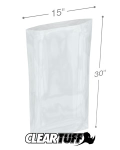 15 x 30 2 mil Poly Bags