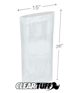 15 x 36 3 mil Poly Bags