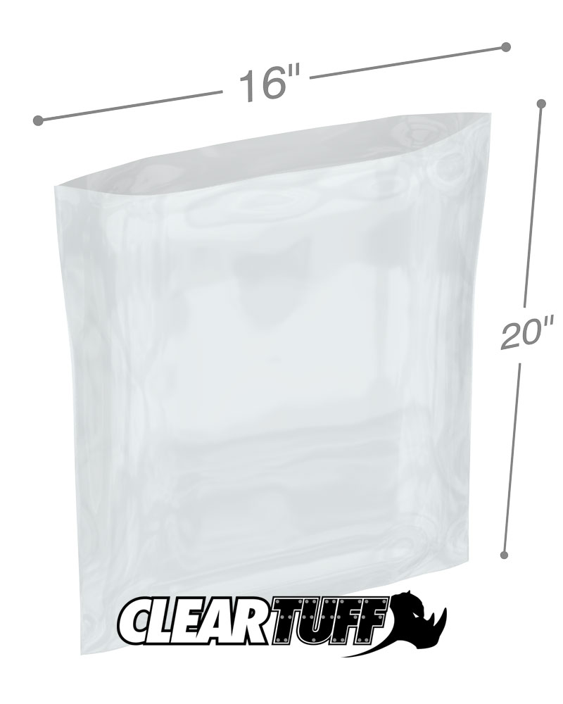 100 CLEAR 9 x 11 POLY BAGS PLASTIC LAY FLAT OPEN TOP PACKING ULINE BEST 1 MIL