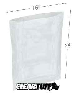 16 x 24 2 mil Poly Bags