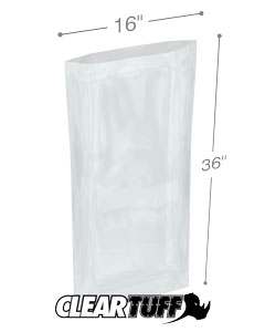16 x 36 2 mil Poly Bags