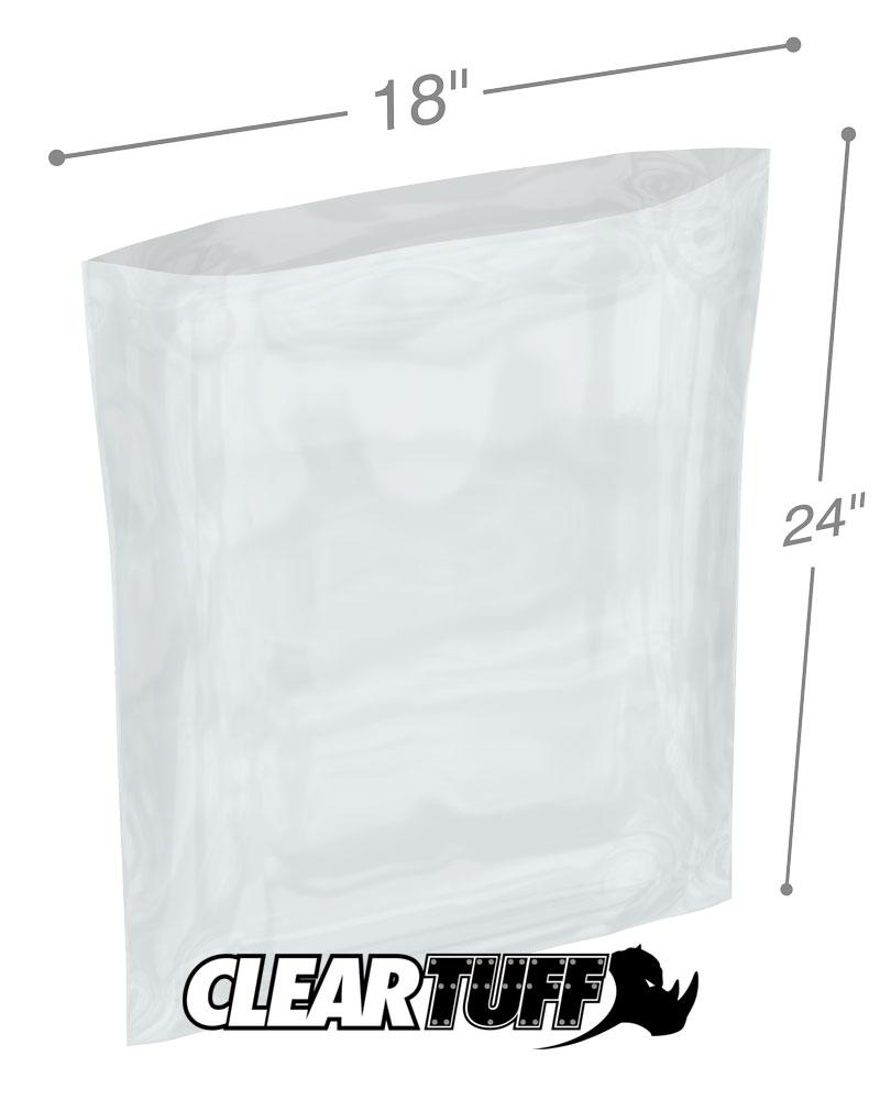 18 x 24 4 mil poly bags. Black Bedroom Furniture Sets. Home Design Ideas
