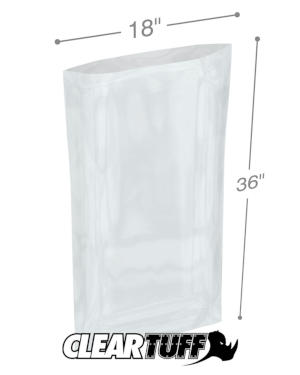 18 in x 36 in 1.5 Mil Poly Bags